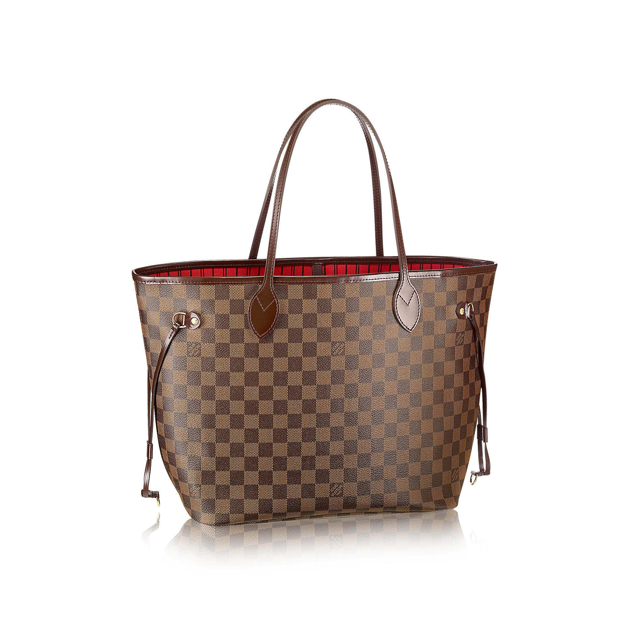 """Bolsa da grife francesa Louiv Vuitton com o padrão Damier. A história de Vuitton é tem do primeiro capítulo da """"websérie"""""""