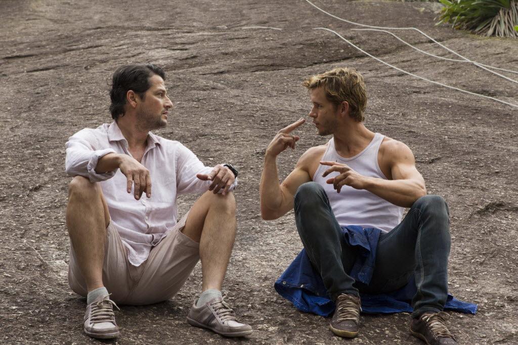 Os atores Marcelo Serrado (à esq.) e Ryan