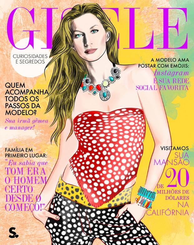 """Gisele em outra versão para a capa da """"Vogue"""" brasileira. Divulgação"""