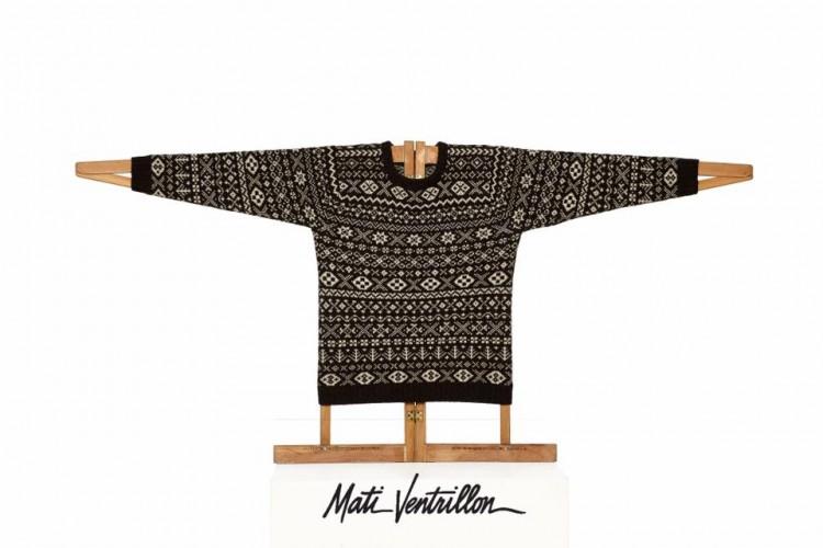 Peça da escocesa Mati Ventrillon com padrões característicos das ilhas Shetland. Reprodução
